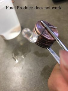 Penny Battery Attempt #1: Not Succesful – Chemistry Period 5
